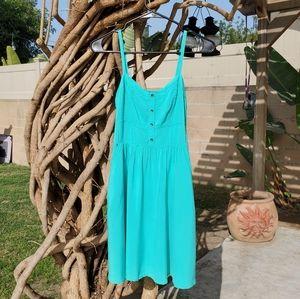 Express teal dress